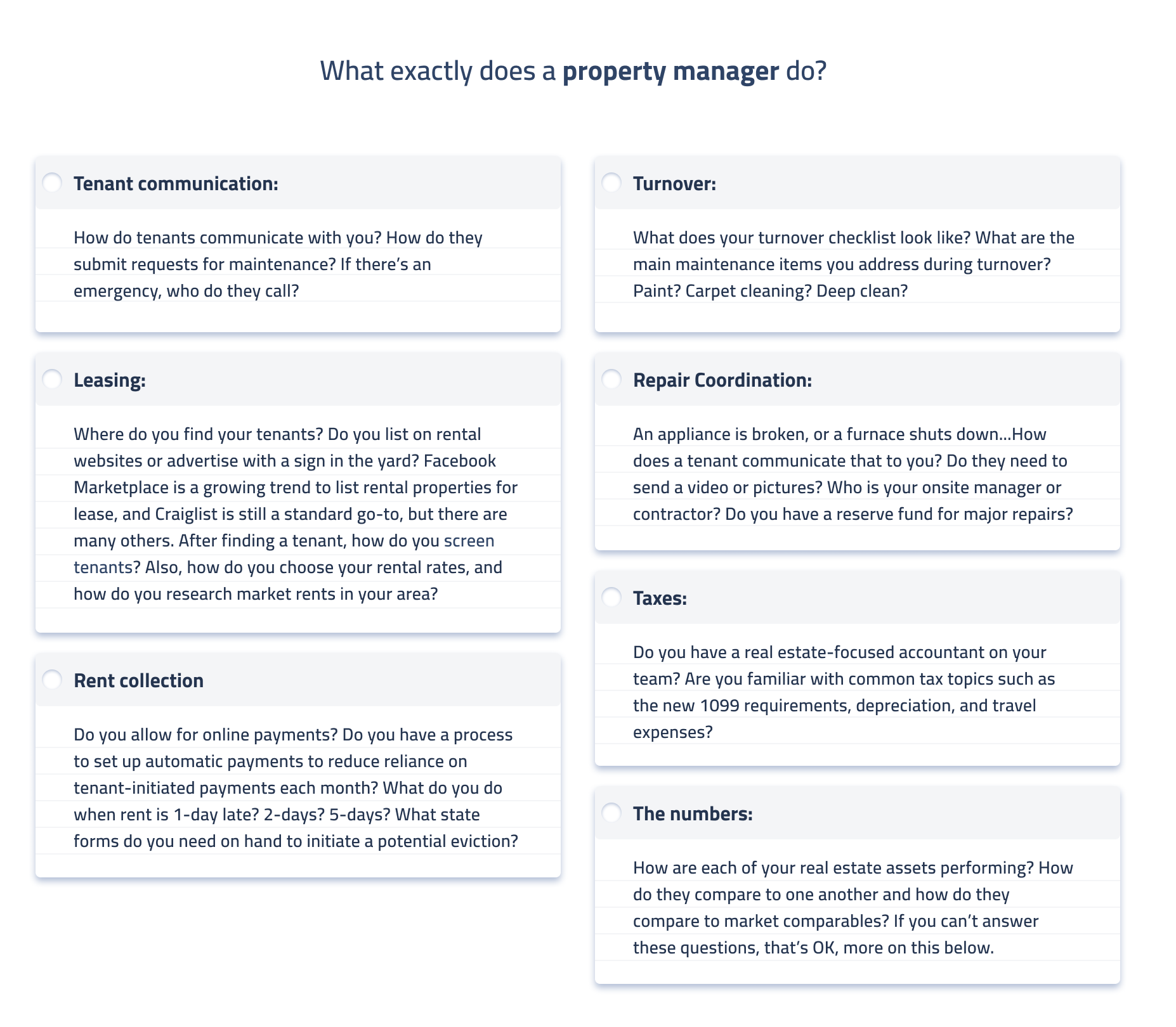What exactly does a property manager do?