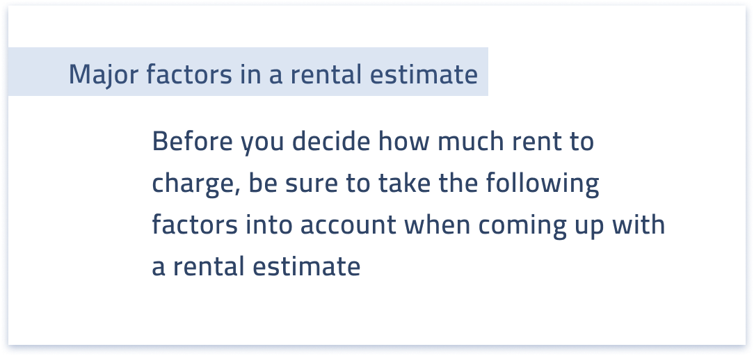Intro to real estate rental estimates