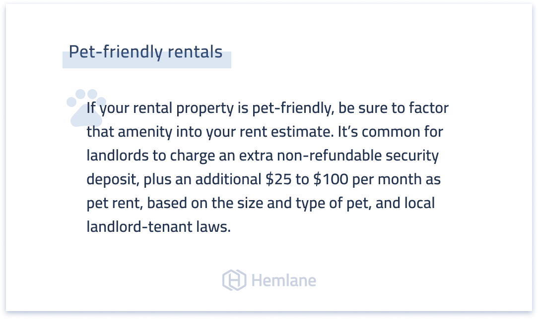 Pet-friendly real estate rentals - how to price