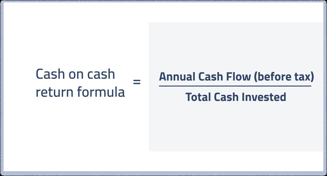 cash on cash return formula for real estate investors