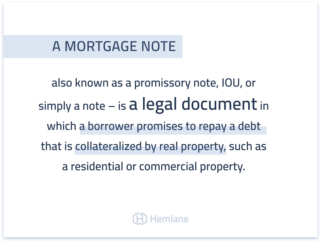 What is a mortgage note and why should real estate investors pay attention